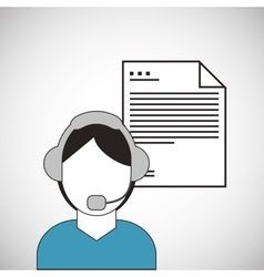 Call center design telemarketing icon support vector