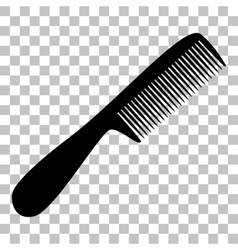Comb simple sign flat style black icon on vector