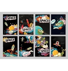 Banner of cosmos vector image vector image