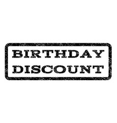 Birthday discount watermark stamp vector