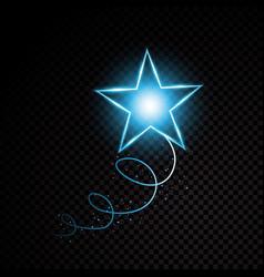 blue glittering spiral star dust trail sparkling vector image vector image