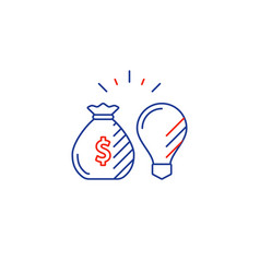 business idea financial consulting money vector image