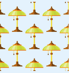 Cartoon lamps light bulb seamless pattern vector