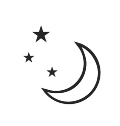 Clear night weather forecast icon vector