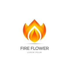 Fire flower symbol vector