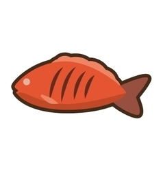 fresh fish food icon design vector image