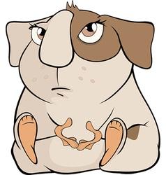 Funny brown guinea pig cartoon vector image vector image