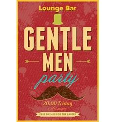 Gentlemen party typography poster vector