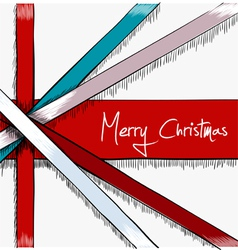 Greeting christmas card drawn in sketch style vector