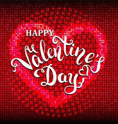 happy valentines day flare background vector image