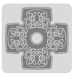 icon with cross and ethnic celtic ornaments vector image