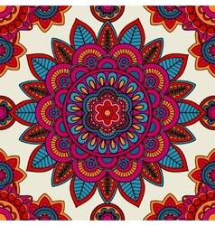 Mandala boho hand drawn seamless pattern vector image