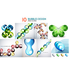 mega collection of bubble backgrounds vector image