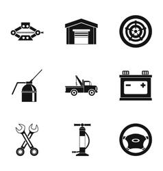 Repair machine icons set simple style vector