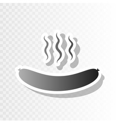 sausage simple sign new year blackish vector image vector image