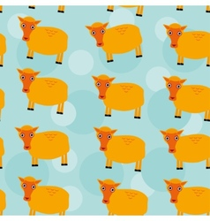 Seamless pattern with funny cute sheep animal on a vector image vector image