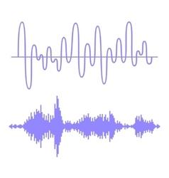 Sound Waves Set vector image vector image