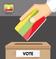 The elections in Myanmar vector image