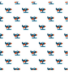 Toy airplane pattern seamless vector