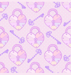 Valentines pattern cute seamless texture with vector