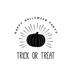 Vintage Happy Halloween Trick or treat vector image vector image