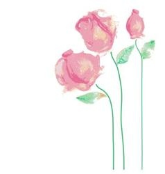 Watercolor roses vector image