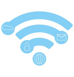 Wifi flat icon infographic concept blue design vector