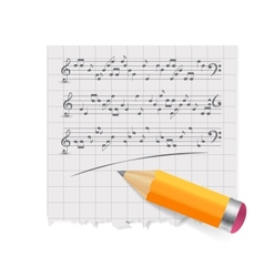 Musical notes abstract background vector