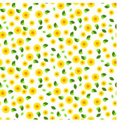 Millefleur small dense seamless pattern vector
