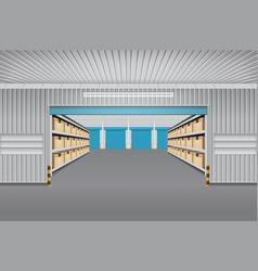 Warehouse building vector