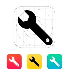 Repair wrench icon vector