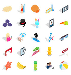 rejoicing icons set isometric style vector image