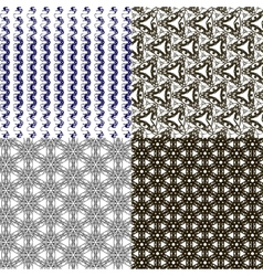 Set of geometric pattern in op art design art vector