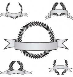 Award crest set vector