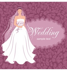 Bride with a bouquet vector