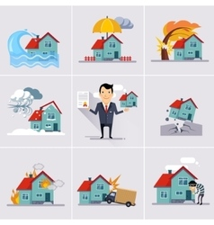 Home and house insurance vector