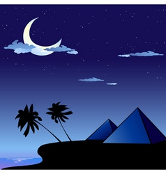 pyramids in egypt vector image