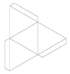Tetrahedron vector image