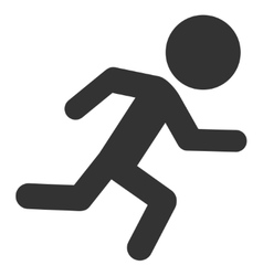 Running child icon vector