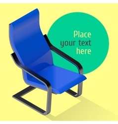Armchair isometric  chair vector