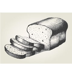 Sketch of sliced bread vector
