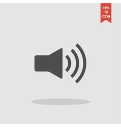 Speaker icon Flat design style vector image