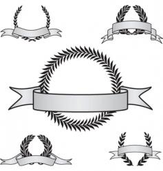 award crest set vector image vector image