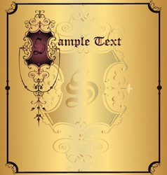 background of the label of frame vector image vector image