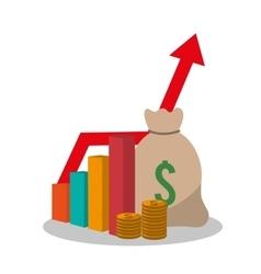 Bag profit and money design vector