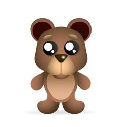 brown teddy bear vector image vector image
