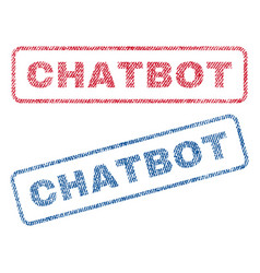 Chatbot textile stamps vector