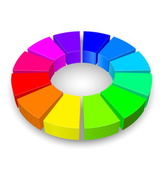 circular diagram in rainbow colors isolated on vector image