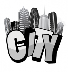 city text vector image vector image