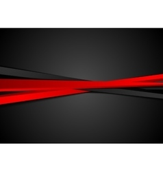 Contrast red black stripes background vector